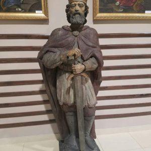 Деревянная скульптура король Данило Галицкий 18 век