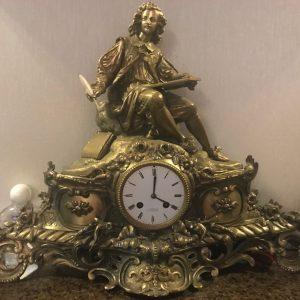 Часы каминные F.Sporhase Санкт-Петербург 19 век