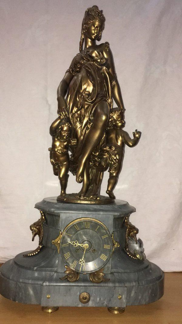 """Каминные часы """"Богиня Артемида"""" 19 век Франция"""