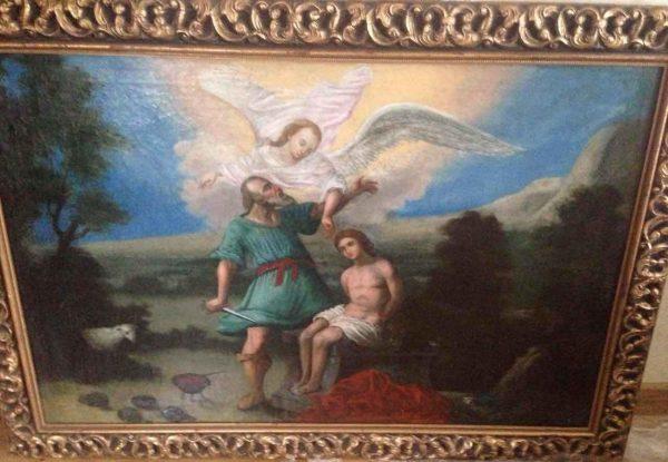 """Картина """"Жертвоприношение Авраама"""" 18 век"""