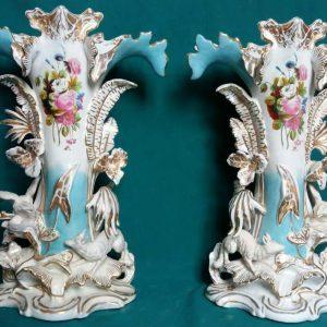 Фарфоровые вазы  первая пол.ХХ-го века Австрия
