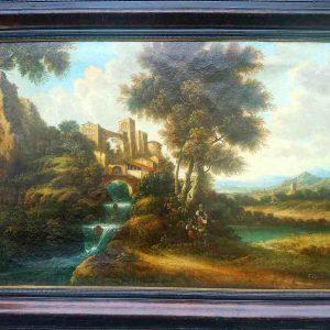 Картина Замковый пейзаж D.Belf Голландия нач.ХХ-го века