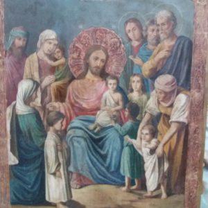 Икона Благословение детей  19 век