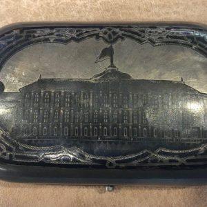 Портсигар с видом Кремля 84 проба Россия 1878 год