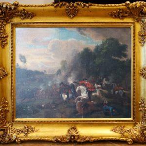 Картина Батальное сражение 1878 год автор D.Sexal