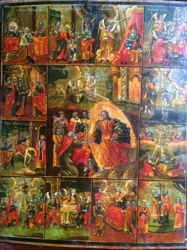 Икона  Праздники Углич 19 век