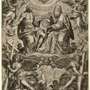 Гравюра СвятаяТроицаPhilips Galle  1574 год