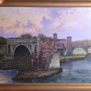 Картина Пейзаж у моста Gr Walinsky Конец XIX-го века