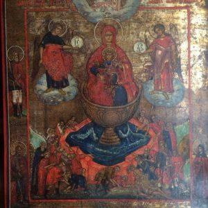 Икона Богородица Живоносный источник 19-й век