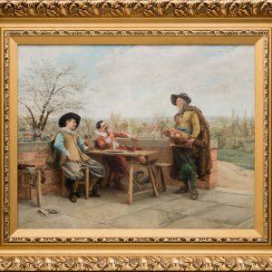Картина Мушкетеры 19 век K.Woom
