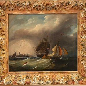 Картина Морской пейзаж 19 век