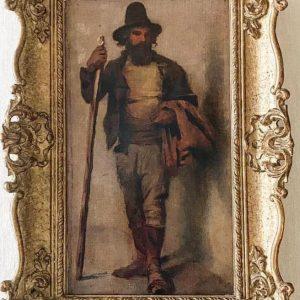 Картина французский крестьянин худ Жюль Вормс 19 век