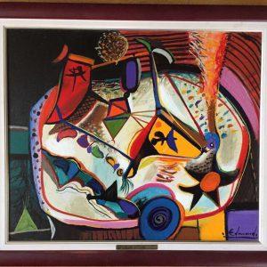 Картина Нотюрморт художник Edmond Demirdjian ХХ вторая пол.ХХ века