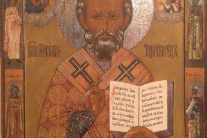 Икона Николай Чудотворец Мстёра  19 век