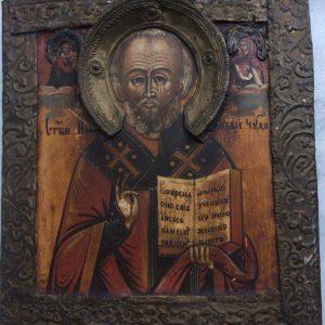 Старообрядческая икона Николай Чудотворец  18 век Россия