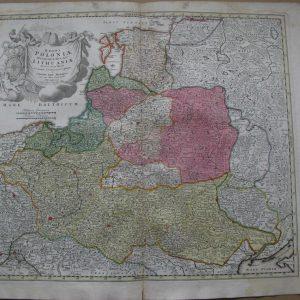 Карта Речь Посполита (Польша и Литва) 18 век