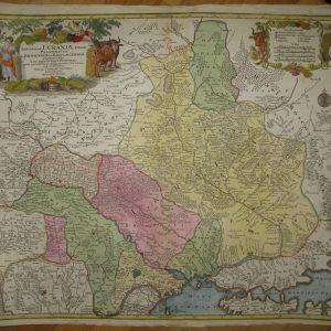 Карта Украины Amplissima Ucraniae Regio. Нач 18 века