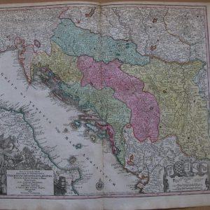 Карта Центральной Европы Dalmatia Croatia  19 век