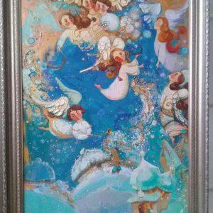 Картина  «Феєрія. Дива у небі» (2018) Оксана Збруцька
