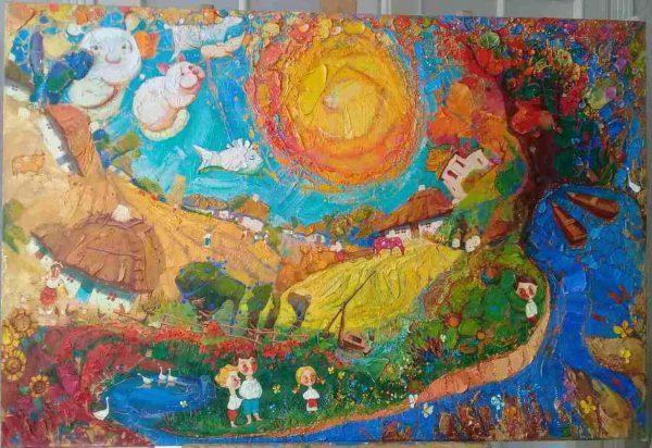 Картина  «Країна дитинства» (2018) Оксана Збруцкая