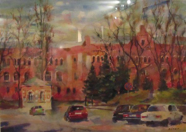 Картина Київ Університет. АвторВалерий Витер