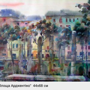 Картина Рим Площадь Арджентино. АвторВалерий Витер