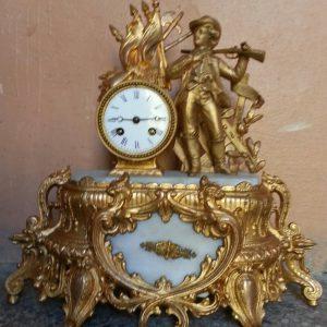 Часы каминные Охотник  19 векАвстрия