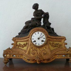 Часы каминные Девушка  Кон.19 века Франция