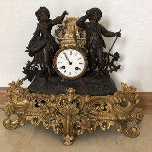 Часы кабинетные Пастух и пастушка 19 век Австрия