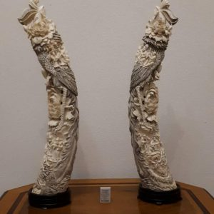 Две статуэтки Феникс  Слоновая кость