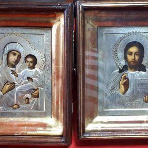 Иконы Венчальная пара  19 век