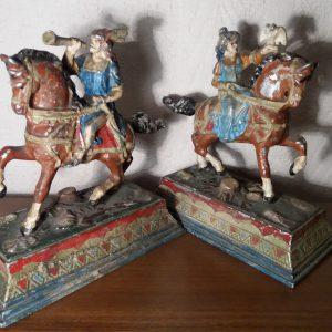 Статуетки Гуцули на конях  кон.19 віку