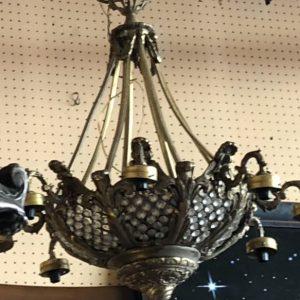 Люстра бронзовая  19 век