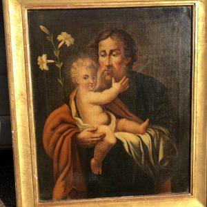 Картина Иосиф с Иисусом 19 век Европа
