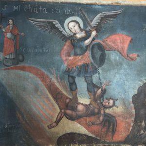 Икона Чудо архангела Михаила 19 век
