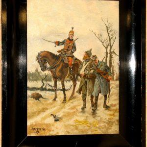 Картина Гусар  1928 год F.Moefgen