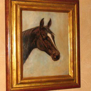 Картина Голова лошади 1904 год Западная Европа