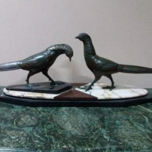 Скульптура Фазаны. Брачные игры Ар-деко 1930-е