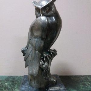 Скульптура Сова кон.ХХ века  авт. Сивченко