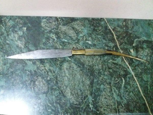 Большой складной нож Наваха Испания 1820 год