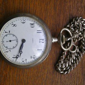 Швейцарские карманные часы Omega серебро 19 век