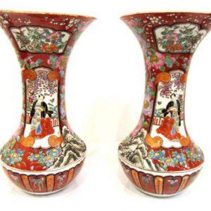 Вазы Япония кон. 19-го века период Мейдзи