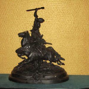 Джигитовка лезгин скульптура 1912 год. Лансере