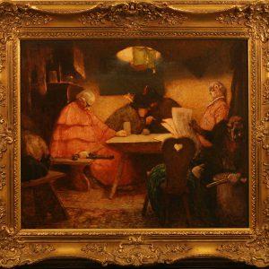 Картина В таверне Herman Arnold 19 век