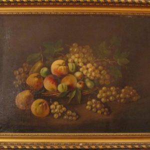 Картина Натюрморт с персиками N.Gelbi 19 век