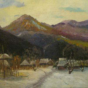 Картина Ранняя зима Сидорук В.Ф. 1970-е годы