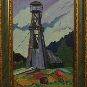 Картина Нефтяная вышка Харченко В.И. 1970-годы
