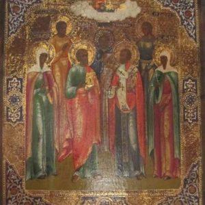 Икона Св. Вера Надежда Любовь Александра Яков Павел Николай 19 век