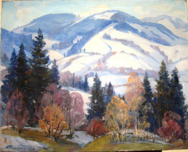 Картина Горный пейзаж Сапатюк М.М. 1984 год
