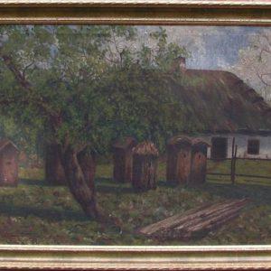 Картина Украинский пейзаж 1922 год Н. Биликовская